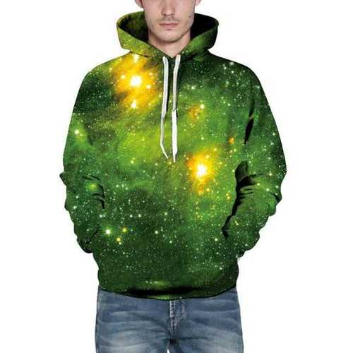 Unisex 3D Hoodies Sweatshirt  Gift Green Forest Pullover Casual Hooded Tracksuit  Drawstring Sweater