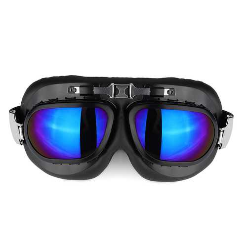 Motorcycle Goggles Glasses Vintage Classic Goggles Retro Pilot Cruiser Steampunk UV Protecti