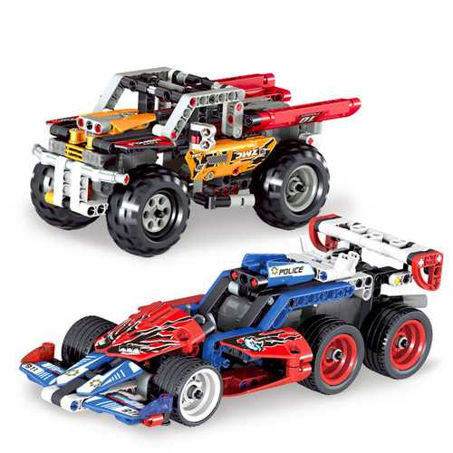 QUNLONG Assembling Buliding Block Pullback Racing Car Model For Kids Children Christmas Gift Toys