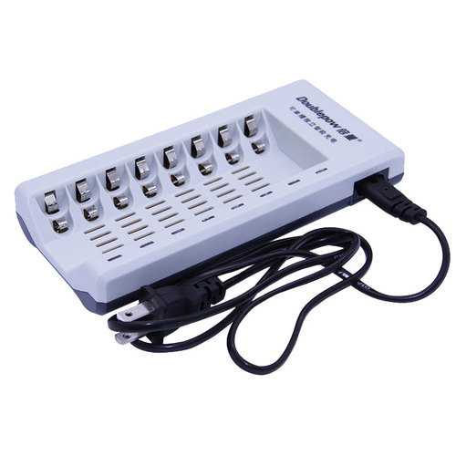 Doublepow K18 8 Slot 1.2V NI-MH Ni-Cd AA AAA Rechargeable Battery Charger