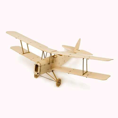 Tiger Moth K10 400mm Wingspan Micro RC Balsa Wood Laser Cut RC Airplane Building Kit