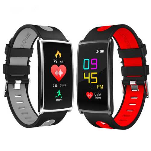 Bakeey 0.96' Color Screen IP67 Blood Pressure HR Monitor Fitness Tracker Smart  Watch for IOS Android