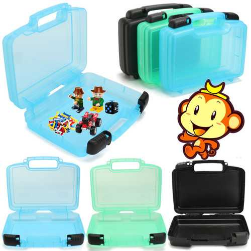 1PC Plastic Finger Animal Pets Storage Box Portable Suitcase Travel Luggage Novelties Toys Organizer Tools