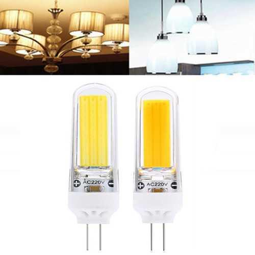 G4 3W COB2609 Dimmable Warm White Pure White LED Corn Light Bulb AC220V