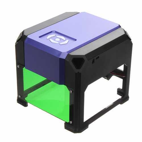 K3 Purple 1500mW Mini Laser Engraver Printer DIY Logo Marking USB Engraving Machine 8x8cm