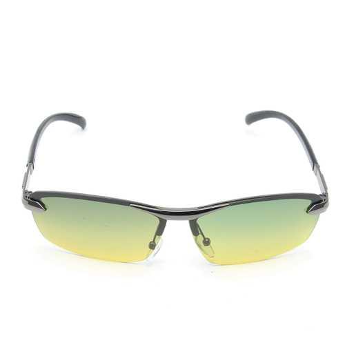Men's Polarized Sunglasses Day Night Vision UV400 Eyewear Driving Pilot Sun Glasses