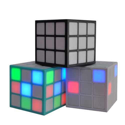 Bluetooth Wireless Handfree Magic Cube Speaker 36 LED Colorful Light Music AUX