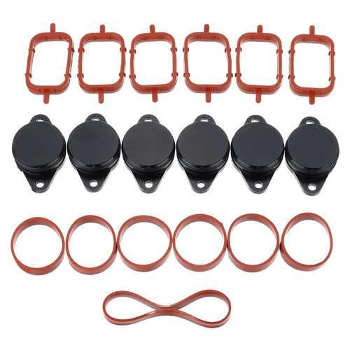 19PCS 32mm Aluminum Swirl Flap Exhaust Pipe Repair Kit 11617790198 For BMW E39 E46 E53 E60