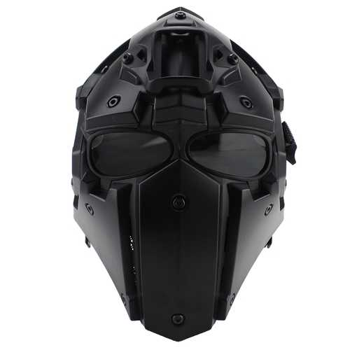 WoSporT Full Face Helmet Protective Obsidian Casque For Motorcycle Tactical Military Training