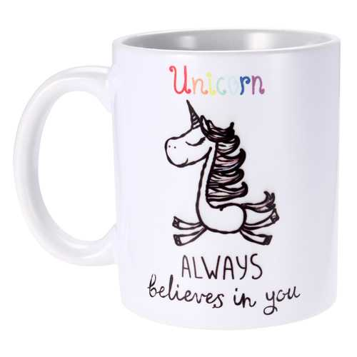 350ml Funny Novelty Unicorn Ceramic Coffee Mug Always Believes In You Home Office Cup