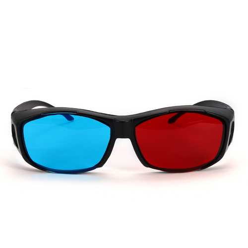 Red Blue 3D Glasses Black Frame For Dimensional Anaglyph Movie Game DVD Projector