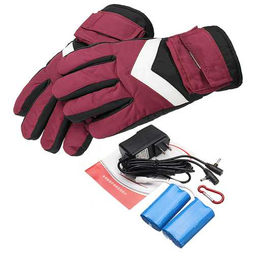 7.4V 2800mah Waterproof Battery Thermal Heated Gloves For Motorcycle Racing Winter Warmer