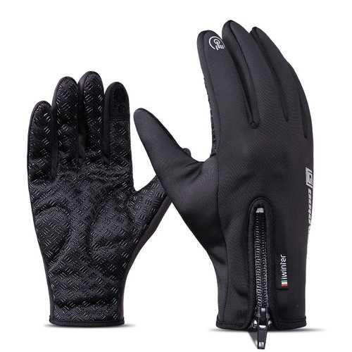 iwinter Touch Screen Windproof Waterproof Fleece Warm Winter Cycling Gloves