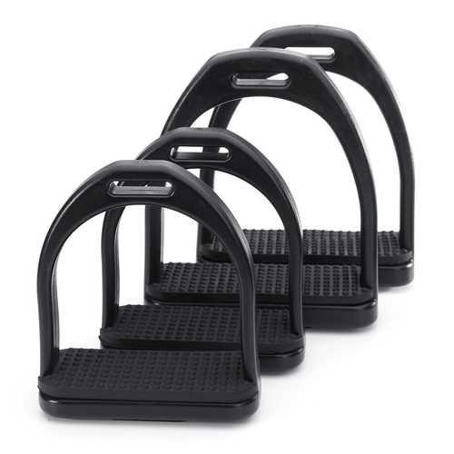 Lightweight Horse Riding High-strength Plastic Stirrup Non-slip Rubber Pad