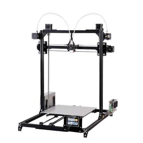 FLSUN® C Plus Desktop DIY 3D Printer With Touch Screen Dual Nozzle Auto Leveling Double Z-motors Support Flexible Filament 300*300*420mm Printing Size 1.75mm 0.4mm Nozzle