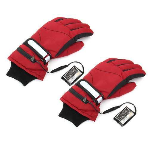 3.7V 2000mAh Battery Heated Gloves Motorcycle Hunting Winter Warmer Racing Skiing