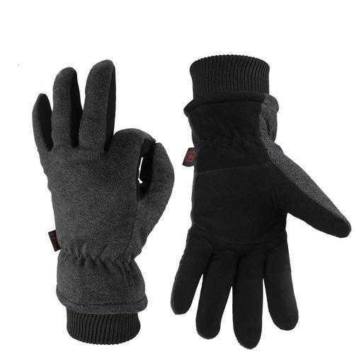 Outdoor Sport Men Women Winter Warm Gloves Ski Skiing Deerskin Leather Cycling