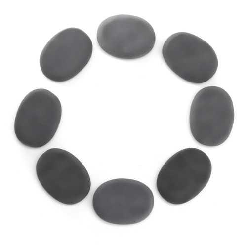 8 Pcs Natural Black Basalt Hot Stone Set Massage Treatments
