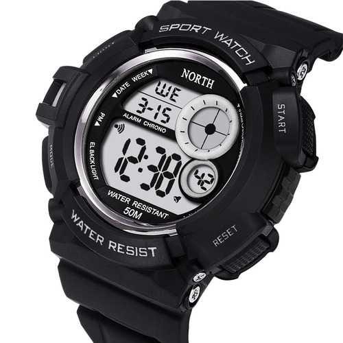 NORTH 2002 Sport Waterproof LED Military Digital Watch