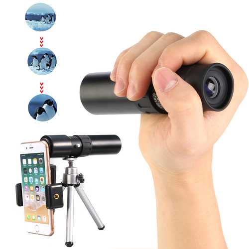 10-30x25 Zoom Telephoto Telescope Optical Monocular Camera Lens With Phone Clip Tripod