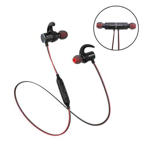 Awei AK8 In-ear IPX4 Waterproof Magnetic Hall Sensor Bass Stereo Bluetooth Earphone With Mic