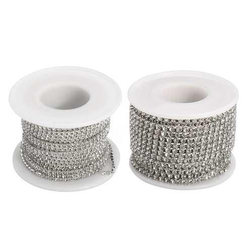 10M Rhinestone Crystal Glass Trim Chain Gem Cup Ribbon