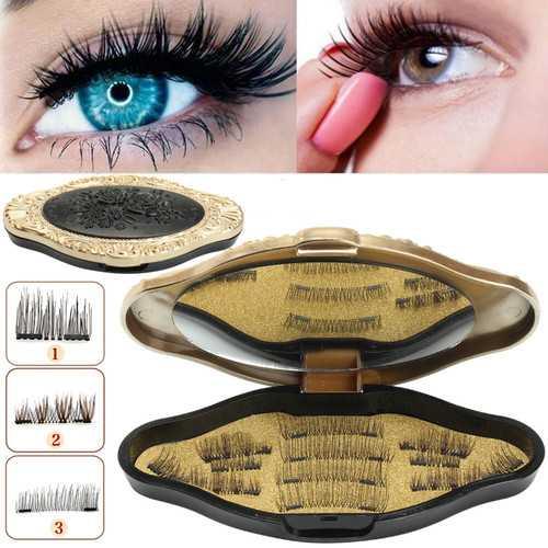 3 Style Magnetic Eyelashes With Mirror