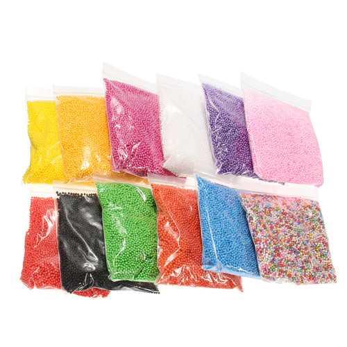 12 Pack Styrofoam Foam Ball Filler For Slime Mini Beads DIY Craft Kids Toy 12 Colors