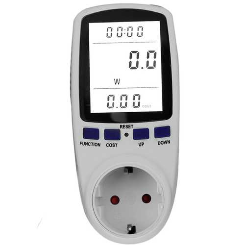 TS-836B Digital Energy Meter Socket Plug-in Electric Power Meter Energy Monitor LCD Display EU/UK/US/AU Plug