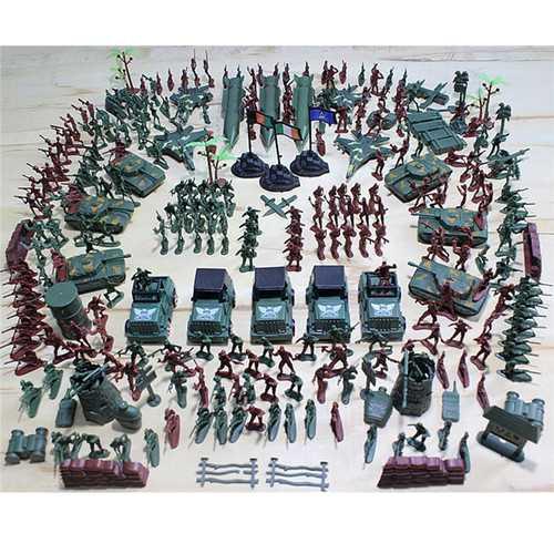 307PCS 4-9CM Military Soldier Army Men Figure Model Building Suit For Kids Children Gift Toys