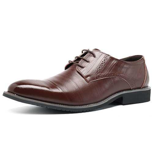 Men Comfy Brogue Style Business Shoes