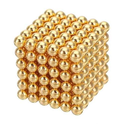 1000PCS Per Lot 5mm Magnetic Buck Ball Magnet Gold Color Intelligent Stress Reliever Toy Gift Gold