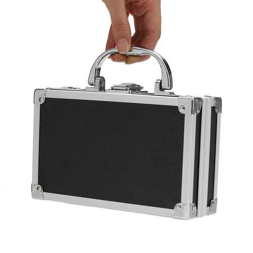"180x112x57mm/7.1""x4.4""x2.3"" Aluminum Alloy Handheld Tool Box Portable Small Storage Case"