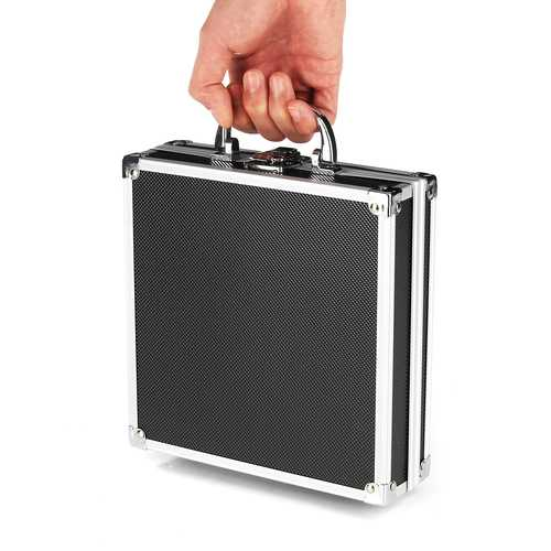 "205x205x65mm/8.1""x8.1""x2.5"" Aluminum Alloy Handheld Tool Box Portable Small Storage Case"