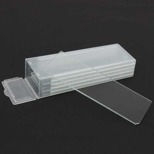 5pcs Single Concave Microscope Glass Slides Reusable Laboratory Blank 1mm