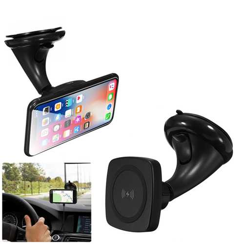 Car Windshield Wireless Charger Charging Dock Holder Mount For iPhone 8/Plus/X Samsung 8