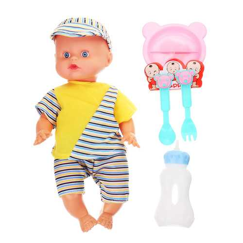 12Inches Lifelike Baby Dolls Smart With Sounds Drinking Water Peeing Sleeping Action Figure Toy