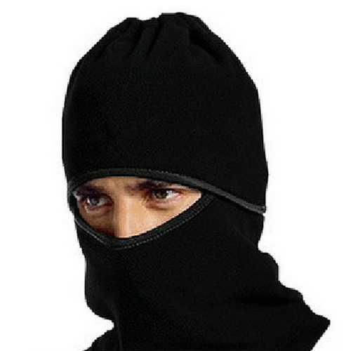 Fleece Sport Cycling Mask Snowboard Neckerchief Full Mask Outdoor Running Mask Windproof Black Hat