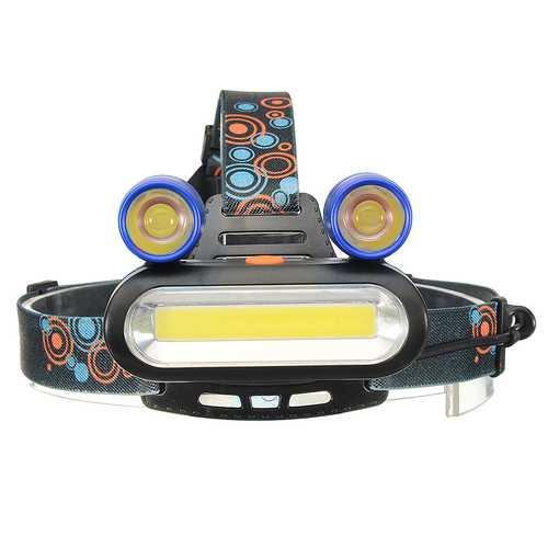 BIKIGHT 1300LM 2T6 COB LED 4 Modes Headlamp Life Waterproof USB Rechargeable