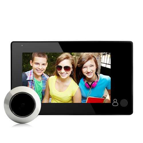 4.3 inch TFT LCD Screen 150 Degree Home Security Doorbell Digital Photo Peephole Door Eye Viewer