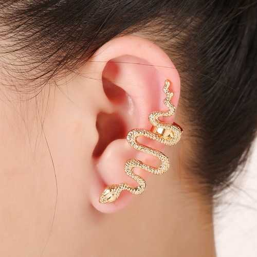 1Pc Exaggerate Snake Left Right Ear Cuff Zinc Alloy Earrings
