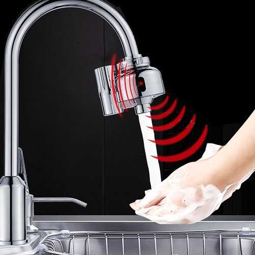 Dual Infrared Automatic Sensor Faucet Water Outlet Tap Adapter Touchless Sensor Outlet Kitchen Sink Faucets Water Filter Fast Assembly