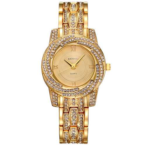 BAOSAILI BSL1030 Gold Plated Shining Quartz Watch