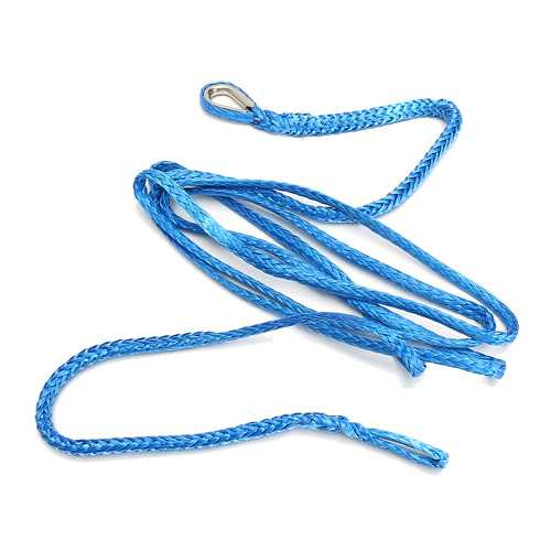 Synthetic Winch Line Cable Plow Lift Rope Blue 7700LBS Fiber Sheath