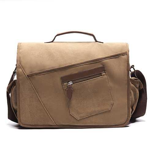 Ekphero Men Retro Messenger Bag Shockproof Shoulder Bag
