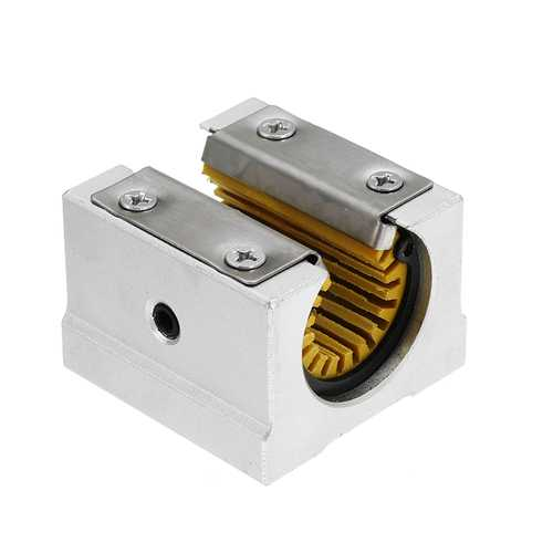 Machifit Solid Polymer SBR16UU 16mm Open Block Linear Bearing Slide CNC Router Linear Slide