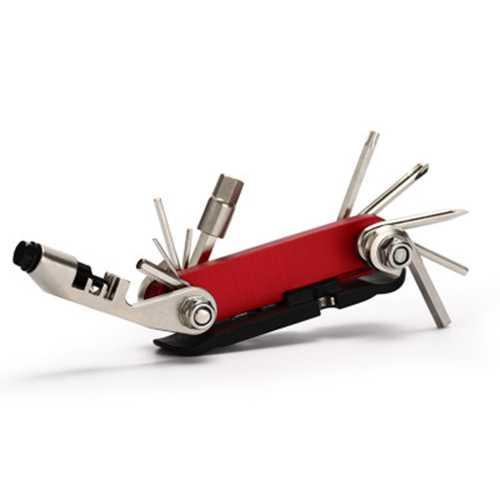 15 in 1 Bike Repair Tools Bike Mountain Bike Portable Tools Hexagon Screwdriver Cut Chain Bike Tools
