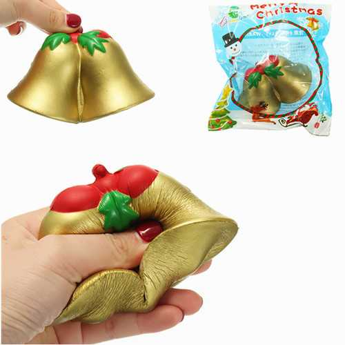 Chameleon Squishy Christmas Jingle Bell Slow Rising Toy With Packaging Kids Christmas Gift Decor