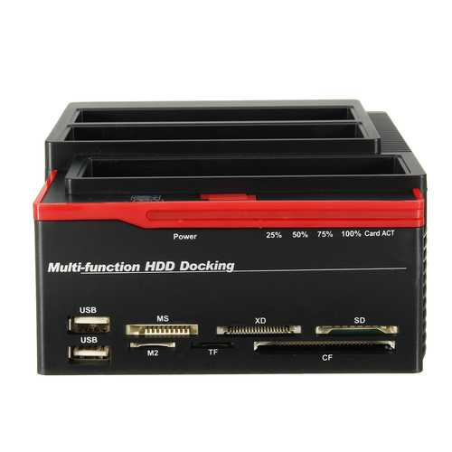 "EU 2.5""3.5"" ALL In One USB 3.0 To SATA IDE HDD SSD Hard Drive Enclosure Clone Card Reader Hub"