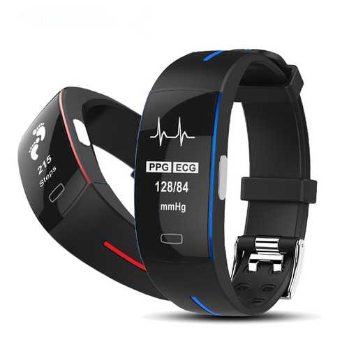 Bakeey P3 ECG+PPG Blood Pressure Heart Rate IP67 waterpoof Pedometer Sports Fitness Smart Bracelet